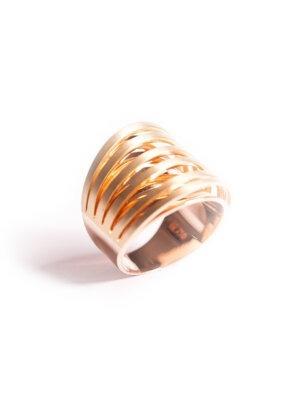 Anel 6 fios acetinado em ouro amarelo e ouro rose 18k